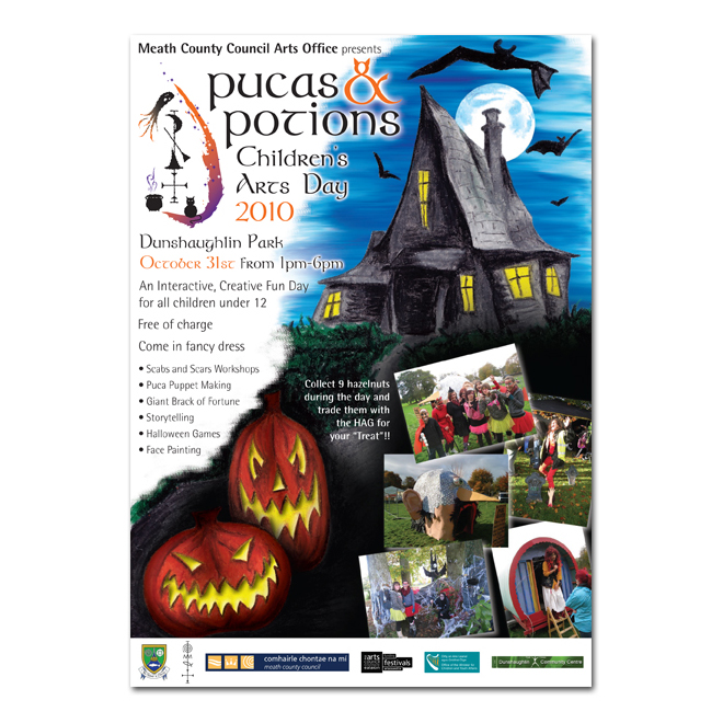 Meath County Council | Pucas & Potions Children's Arts Day Poster / Flyer