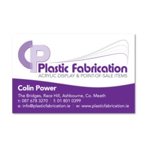CP Plastic Fabrication Business Card
